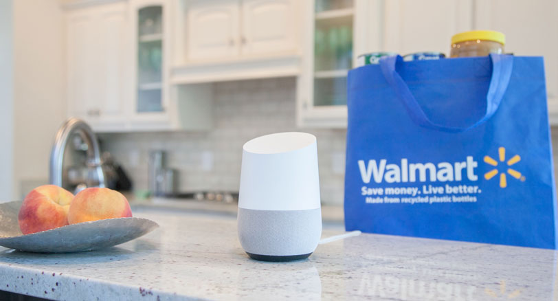 "Walmart, la spesa via voce con ""Hey Google"""