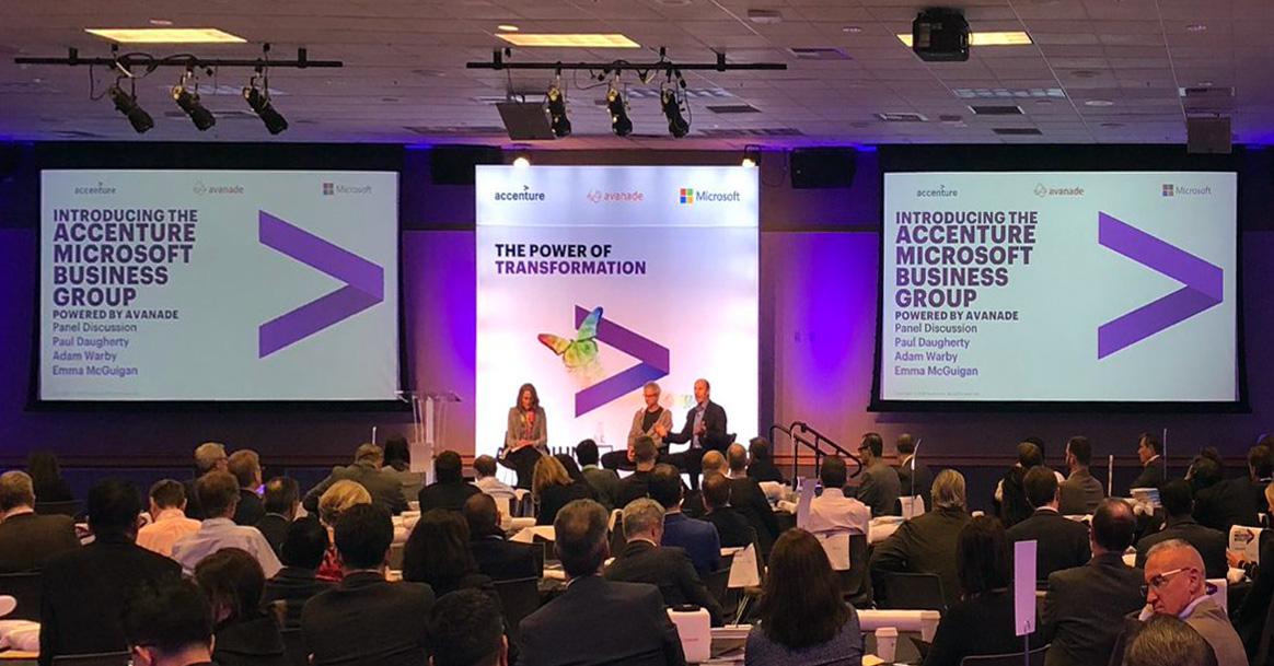Accenture, Microsoft e Avanade in business group