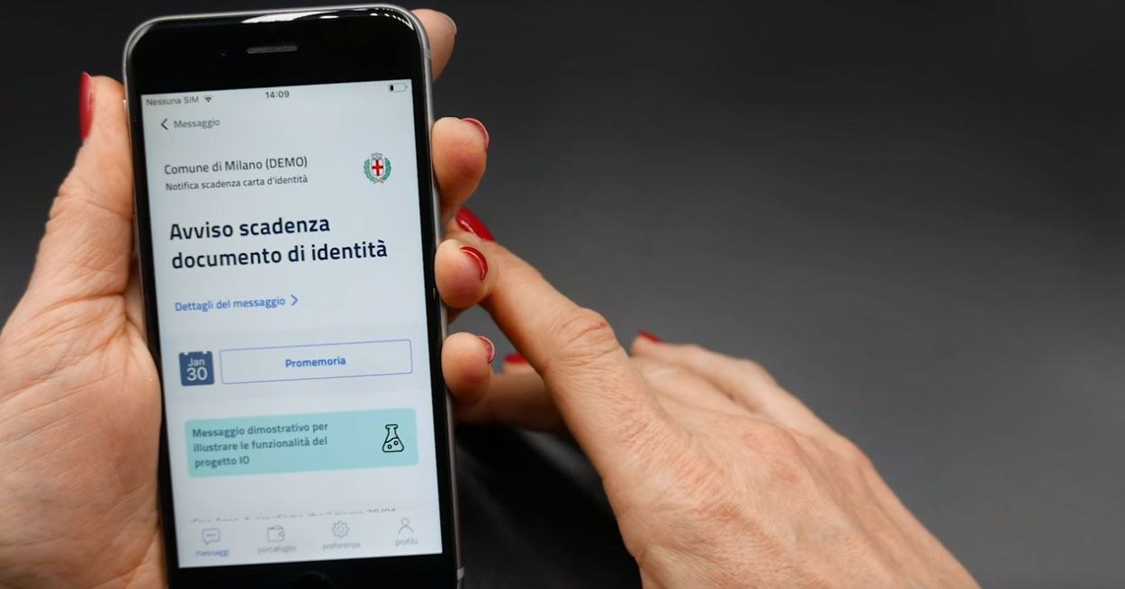 IO, Milano testa l'app per i servizi della PA
