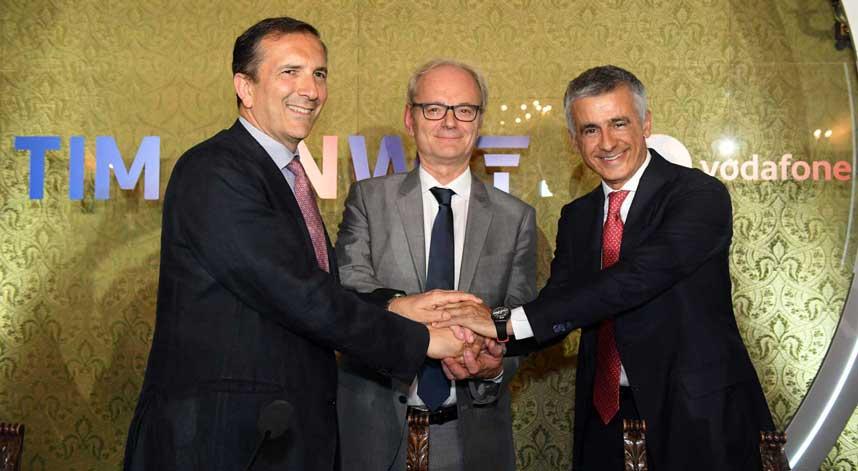 Tim-Vodafone, firma per l'integrazione delle reti